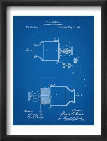 Speaking Telegraph Patent Framed Art Print