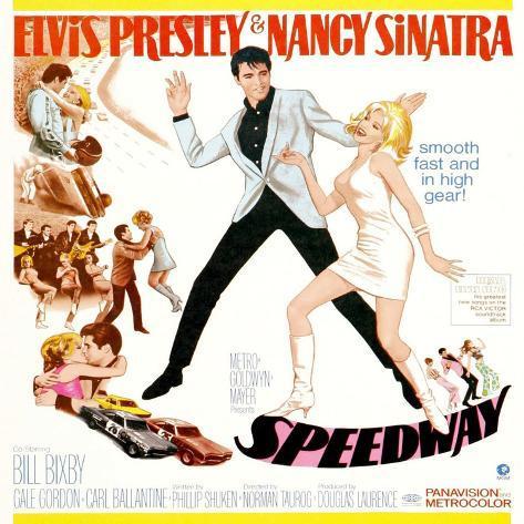 Speedway, Elvis Presley, Nancy Sinatra, 1968 Art Print