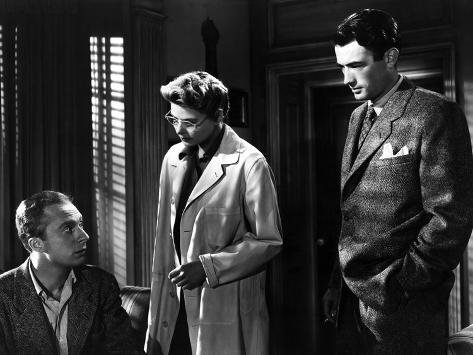 Spellbound, Norman Lloyd, Ingrid Bergman, Gregory Peck, 1945 Photo