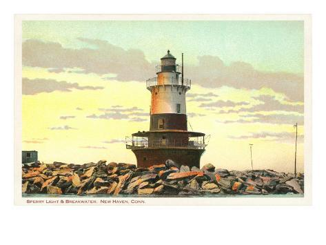 Sperry Lighthouse, New Haven, Connecticut Art Print