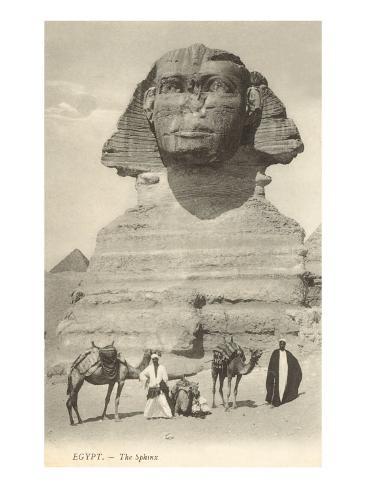 Sphinx, Giza, Egypt Art Print