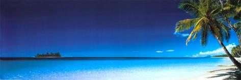 Spiaggia, al mattino Poster per porta