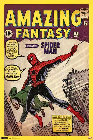 Spider-Man Amazing Fantasy 15 Comic Poster Poster