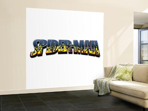 Spider-Man; Flames Wall Mural – Large