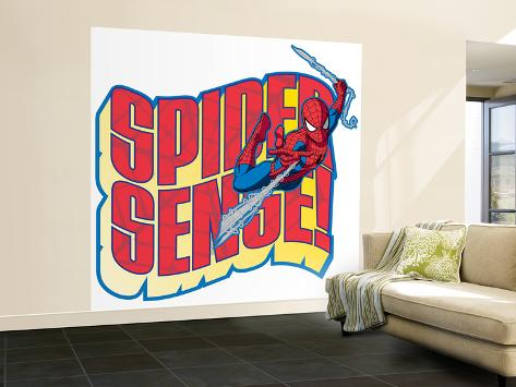 Spider-Man Swinging; Spider-Sense Wall Mural – Large