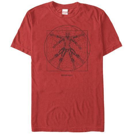 Spiderman- Vitruvian Spider T-Shirt