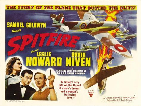 Spitfire, Rosamund John, David Niven, Leslie Howard, 1942 Photo