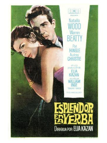 Splendor in the Grass, Spanish Movie Poster, 1961 Premium Giclee Print