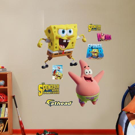 SpongeBob Movie SpongeBob And Patrick Sponge Out Of Water Wall - Spongebob wall decals