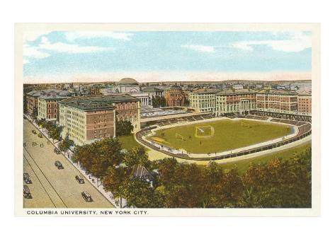 Sports Oval, Columbia University, New York City Art Print