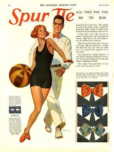 Spur Tie, Magazine Advertisement, USA, 1929 Giclee Print