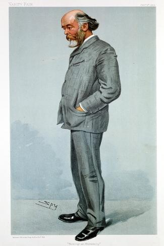 Oliver Lodge, British Physicist, 1904 Giclee Print