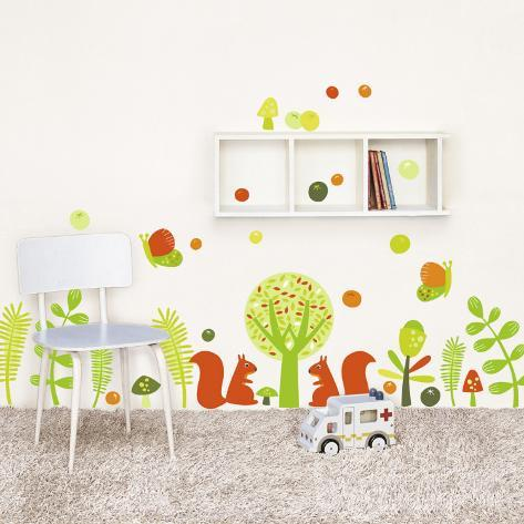 Squirrels Wall Decal