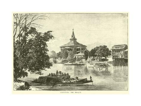 Srinagur: the Mosque Lámina giclée