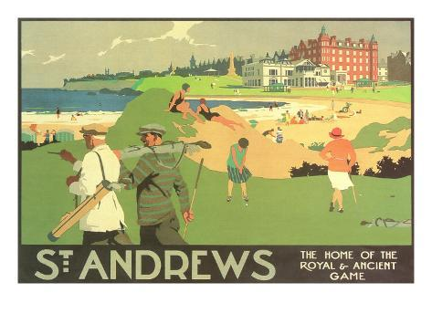 St. Andrews Golf Course Art Print