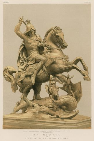 St George by the Chevalier a De Fernkorn, Vienna Giclee Print