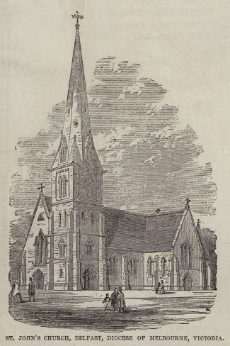 St John's Church, Belfast, Diocese of Melbourne, Victoria Giclee Print