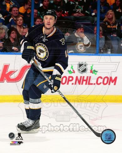 St Louis Blues Jay Bouwmeester 2013-14 Action Photo