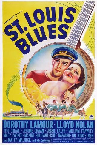 St. Louis Blues, Lloyd Nolan, Dorothy Lamour, 1939 Art Print