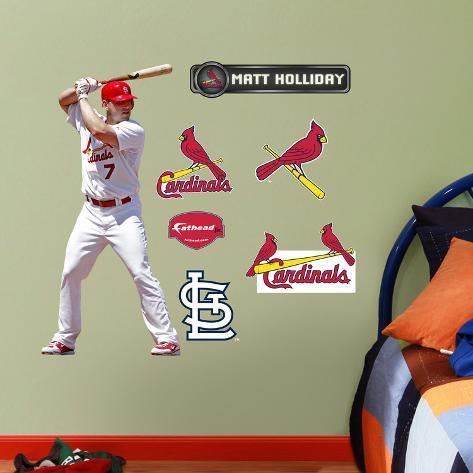 St. Louis Cardinals Matt Holiday Junior Wall Decal Sticker Wall Decal