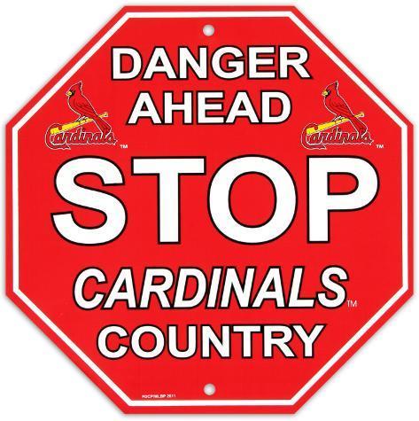 St. Louis Cardinals Stop Sign Wall Sign