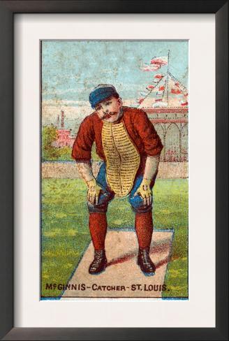 St. Louis, MO, St. Louis Browns, Jumbo McGinnis, Baseball Card Framed Art Print