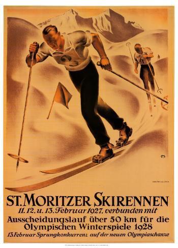 St. Moritzer Skirennen Konstprint