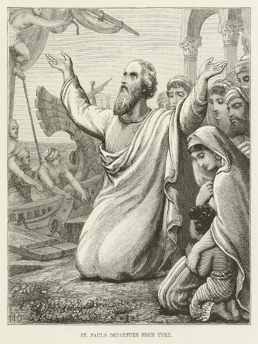 St Paul's Departure from Tyre Lámina giclée