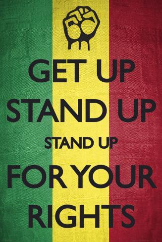Stå upp för dina rättigheter, engelsjka Poster