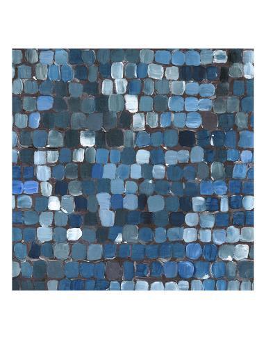 Cobalt Cobbles Art Print