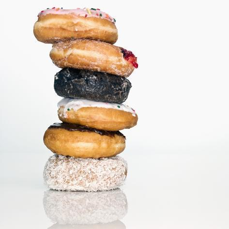 Stack of Donuts Photographic Print