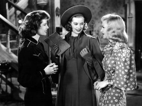 Stage Door, Katharine Hepburn, Lucille Ball, Ginger Rogers, 1937 Photo