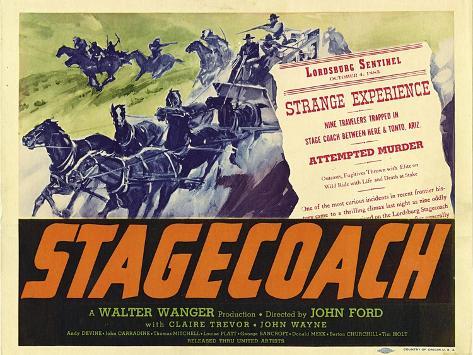 Stagecoach, 1939 Premium Giclee Print