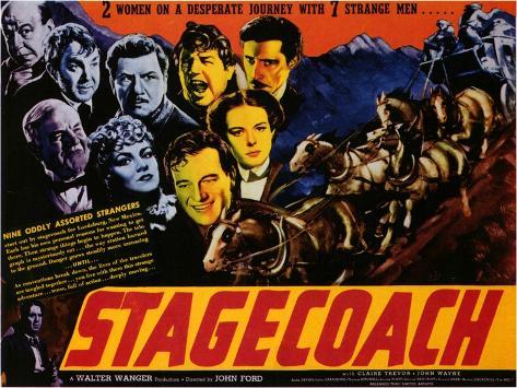 Stagecoach, 1939 Art Print
