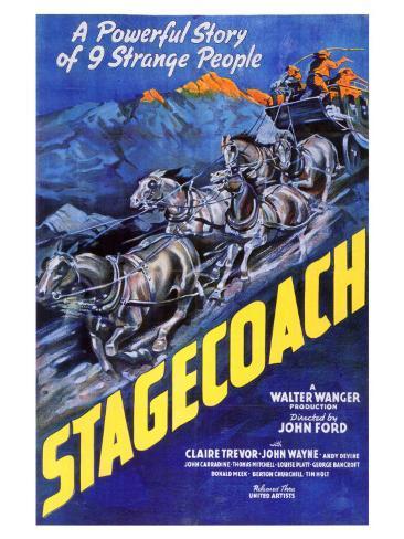 Stagecoach, 1939 Konstprint