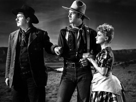 Stagecoach, George Bancroft, John Wayne, Claire Trevor, 1939 Stretched Canvas Print