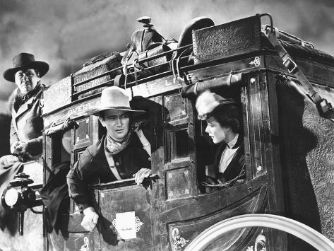 Stagecoach, George Bancroft, John Wayne, Louise Platt, 1939, On The Stagecoach Foto