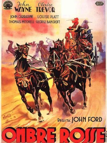 Stagecoach, Italian Movie Poster, 1939 Art Print