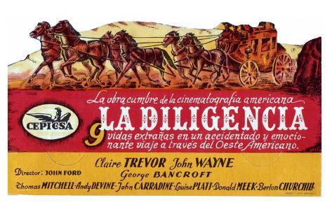 Stagecoach, Spanish Movie Poster, 1939 Masterprint