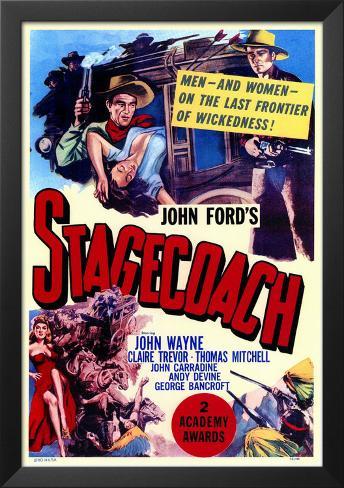 Stagecoach Framed Art Print