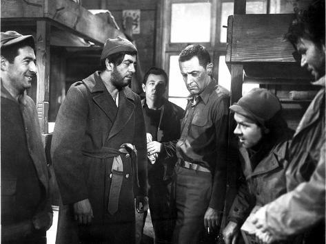 Stalag 17, Harvey Lembeck, Robert Strauss, William Holden, Richard Erdman, Neville Brand, 1953 Foto