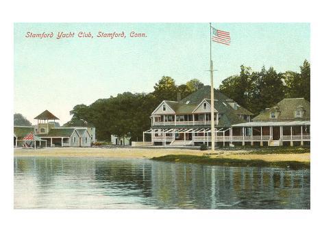 Stamford Yacht Club, Stamford, Connecticut Art Print