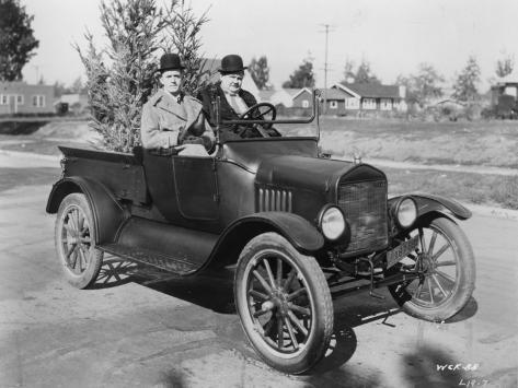 Stan Laurel and Oliver Hardy: Big Business, 1929 写真プリント