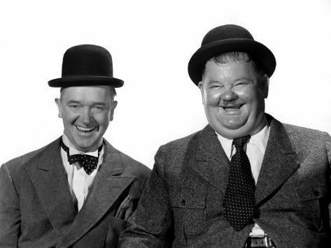 Stan Laurel, Oliver Hardy, c.1940s Photo