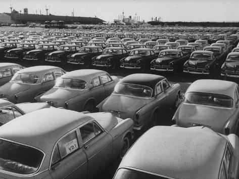Shipment of Swedish Volvo Cars to USA Photographic Print