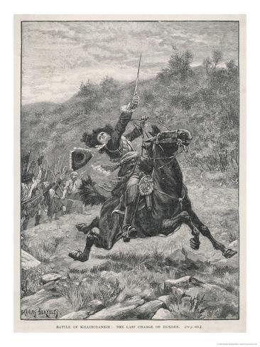 Jacobite Rising at Killiecrankie the Jacobites Defeat Mackay's Royalist Army Giclee Print
