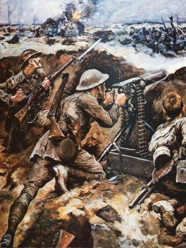 First Battle of the Somme (Colour Litho) Giclee Print