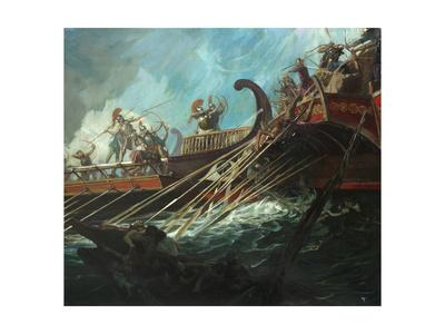 Battle of Salamis, 480 Bce Giclee Print by Stanley ...