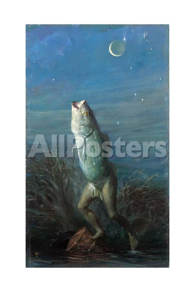 Manfish Half Man Half Fish Giclee Print Stanley Meltzoff Allposters Com