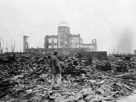 WWII Hiroshima Aftermath Photographic Print